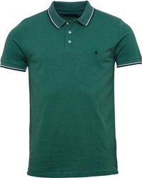 French Connection - Tipped Polo Green Melange - Lyst