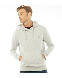 French Connection - Basic Over The Head Hoody Light Grey Melange - Lyst