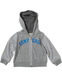 Converse - Baby Boys Printed Full-zip Hoody Dark Grey Heather - Lyst