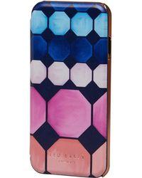 Ted Baker - Gwyneth Marina Mosaic Mirror Iphone Case Navy - Lyst