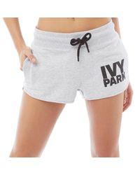 Ivy Park - Logo Shorts Light Grey Marl - Lyst