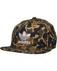adidas Originals - Camo Snapback Cap Dark Sahara - Lyst