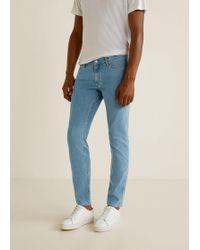 Mango - Slim-fit Light Wash Patrick Jeans - Lyst