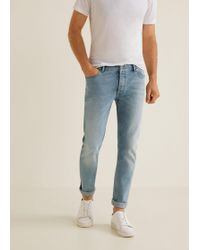 Mango - Slim-fit Light Vintage Wash Tim Jeans - Lyst