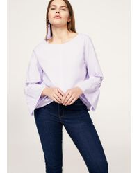 Violeta by Mango - Flared Sleeve Blouse - Lyst