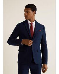 Mango - Pinstripe Slim-fit Suit Blazer - Lyst