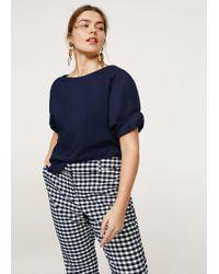 Violeta by Mango | Gathered Sleeve T-shirt | Lyst