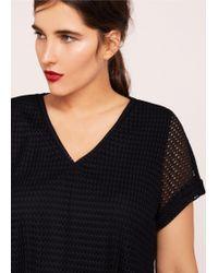 Violeta by Mango - Combined Mesh T-shirt - Lyst