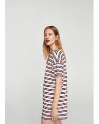 Mango - Striped Shift Dress - Lyst