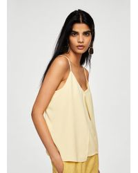 Mango - Pleated Detail Top - Lyst