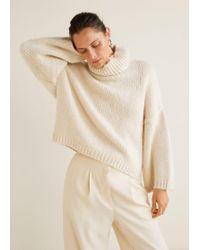 Mango - Wool-blend Knit Jumper - Lyst