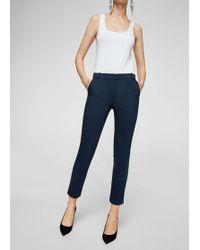 Mango - Crop Slim-fit Trousers - Lyst