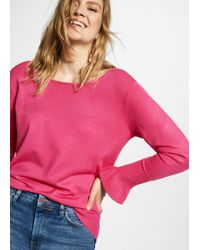 Violeta by Mango - Ruffled Sleeve Sweater - Lyst