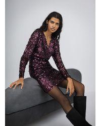 Mango - Sequined Dress - Lyst
