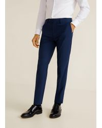 Mango - Slim-fit Patterned Suit Trousers - Lyst