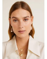 Mango - Coin Waterfall Necklace - Lyst