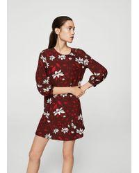 Mango - Flowy Printed Dress - Lyst