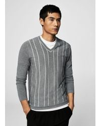 Mango - Flecked Striped Sweater - Lyst