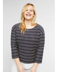Violeta by Mango - Metallic Thread Sweatshirt - Lyst
