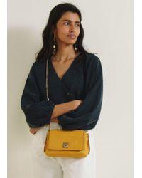 Mango - Chain Leather Bag - Lyst