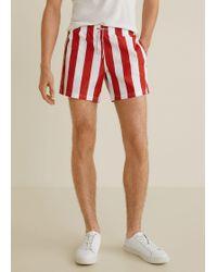 Mango - Striped Swimsuit - Lyst