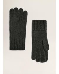 Mango - Chunky-knit Gloves - Lyst