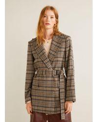 Mango - Check Wool Blazer - Lyst