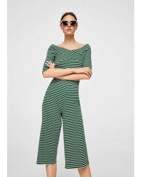 Mango | Striped Cotton Jumpsuit | Lyst