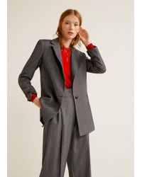 Mango - Flecked Suit Trousers - Lyst