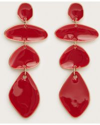 Violeta by Mango - Geometric Stones Earrings - Lyst
