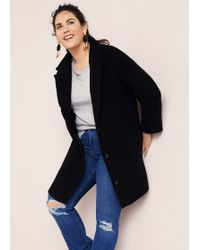 Violeta by Mango - Buttoned Wool Coat - Lyst