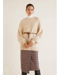 Mango - Check Wrap Skirt - Lyst