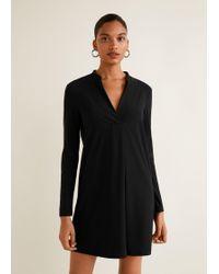 Lyst - Mango Fitted Dress in Black 060d4d134