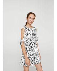 Mango - Cold-shoulder Dress - Lyst
