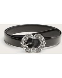 Violeta by Mango - Faceted Crystal Buckle Belt - Lyst