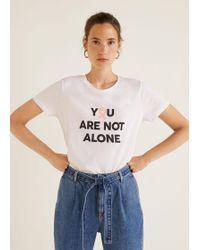 Mango - Solidary T-shirt - Lyst