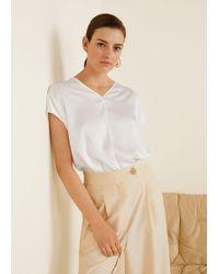 Mango - Contrasting T-shirt - Lyst
