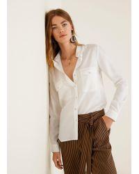 Mango - Pockets Flowy Shirt - Lyst