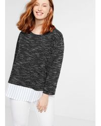 Violeta by Mango - Shirt Hem Flecked Sweatshirt - Lyst