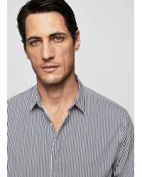 Mango - Slim-fit Bengal Stripe Shirt - Lyst