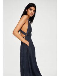 Mango - Linen-blend Midi Dress - Lyst