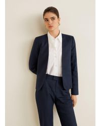 Mango - Linen Balzer Suit - Lyst