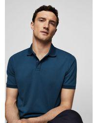 Mango - Piqué-edge Cotton Polo Shirt - Lyst