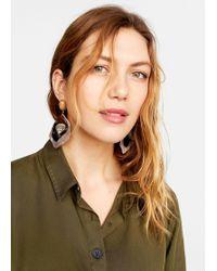 Violeta by Mango - Combined Shell Earrings - Lyst