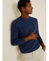 7b437d44c Lyst - Mango Towel Fabric Sweater in Blue for Men