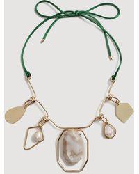 Mango - Mixed Bead Necklace - Lyst