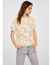 Mango - Short Sleeve Shirt - Lyst