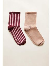 Mango - 2 Pack Mixed Socks - Lyst