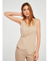 Mango - Ruched Detail Top - Lyst