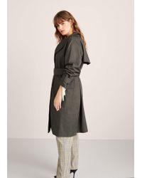 Violeta by Mango - Classic Cotton Trench Coat - Lyst